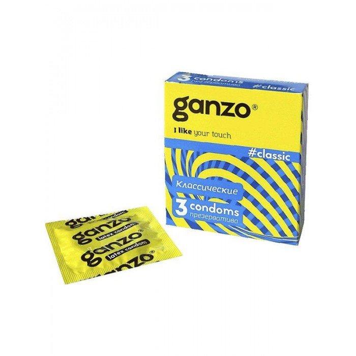 Классические презервативы с обильной смазкой Ganzo Classic - 3 шт