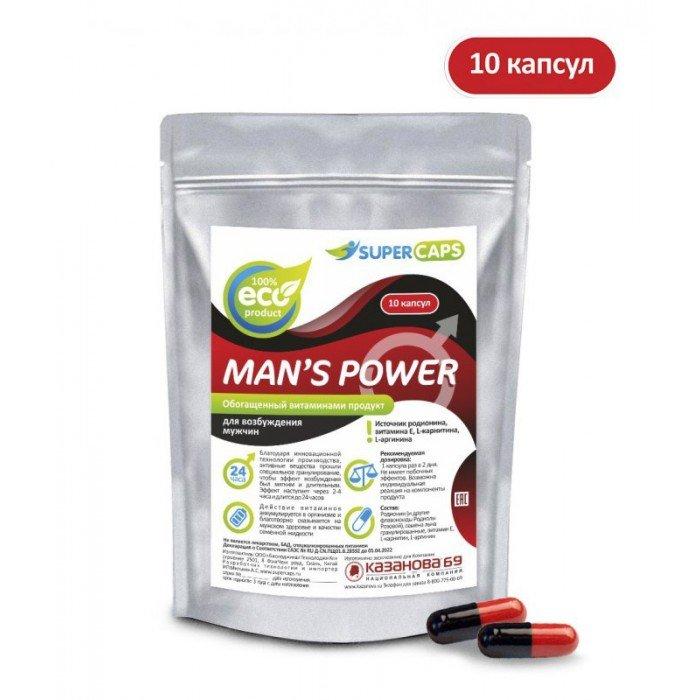 Средство возбуждающее с L-carnitin Man's Power - 10 капсул