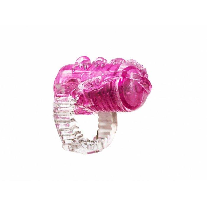 Вибро-насадка на язык Rings Teaser pink - розовая