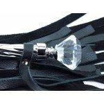 Плеть из кожи с широкими хвостами БДСМ-Арсенал - 60,5 см