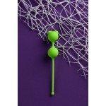 Вагинальные шарики A-Toys Pleasure Balls с ушками - зелёные