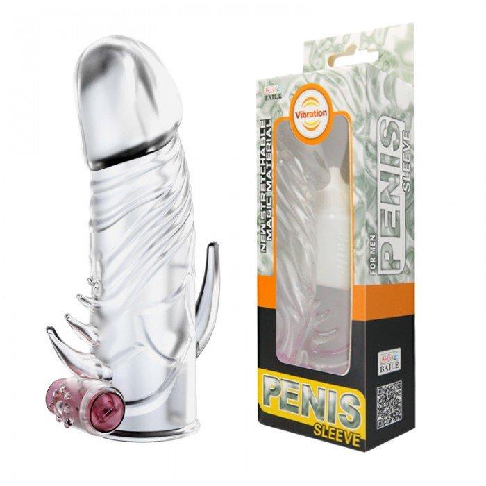 Насадка на пенис с закрытой головкой и вибрацией