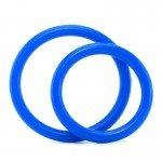 Набор из двух эрекционных колец Silicone Cock Ring Set разного диаметра – голубой