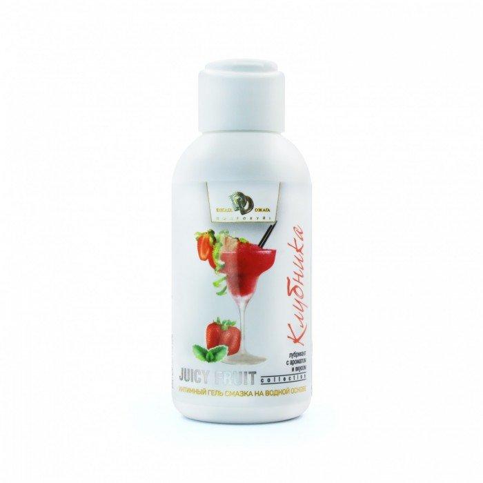 Интимная смазка-гель на водной основе Juicy Fruit Клубника - 100 мл