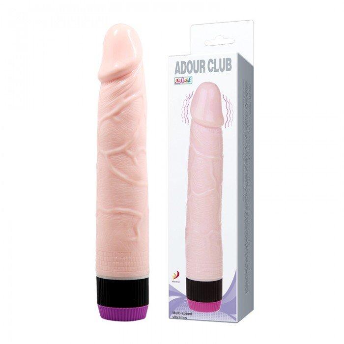 Вибратор-реалистик Adour Club - телесный - 21,5 см