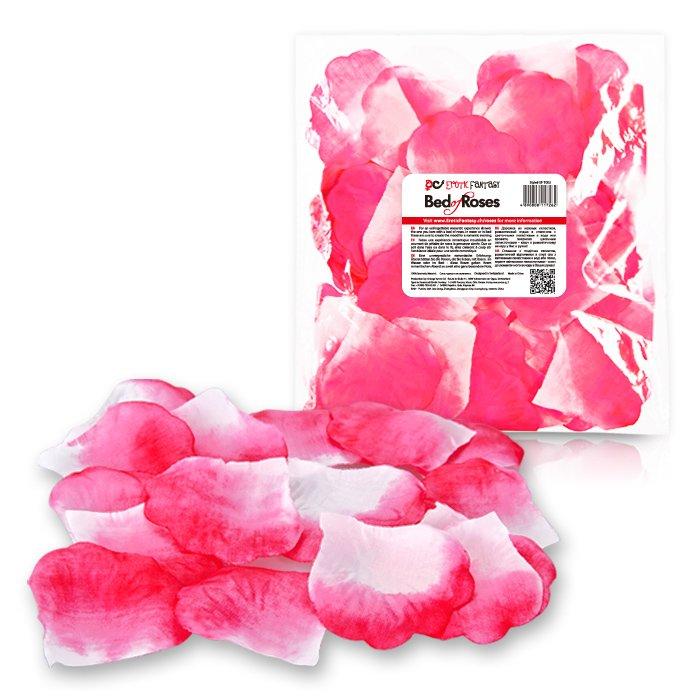 Лепестки роз BED OF ROSES - бело-розовые