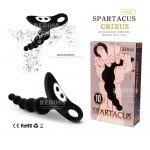 Анальный вибромассажер-ёлочка Spartacus - Crixus - 12,5 см