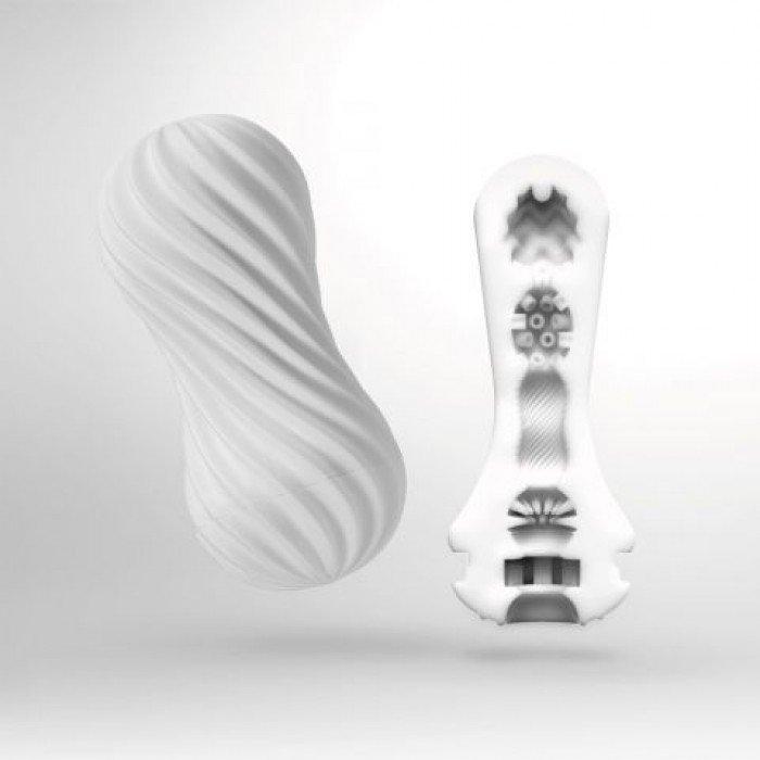 Мастурбатор Tenga FLEX Silky White со спиральным рельефом