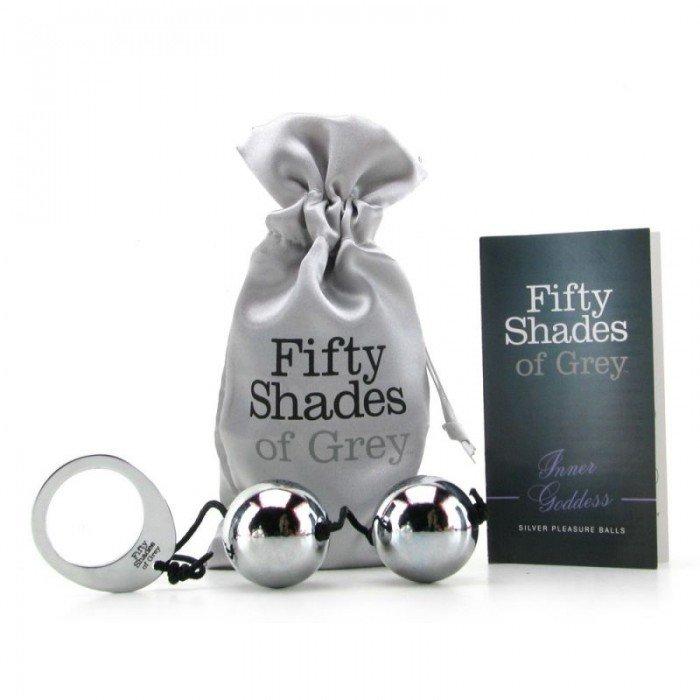 Вагинальные шарики утяжелённые Fifty Shades of Grey - Silver Metal Ben Wa Balls