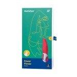 Вибратор с головкой-лепестками Satisfyer Vibes Power Flower - красный