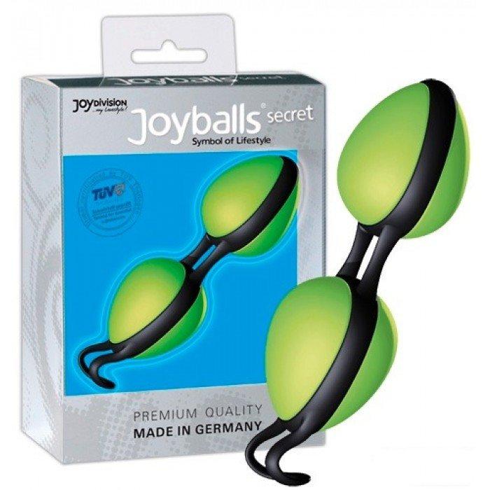 Вагинальные шарики Joyballs Secret со смещенным центром тяжести - зелёные