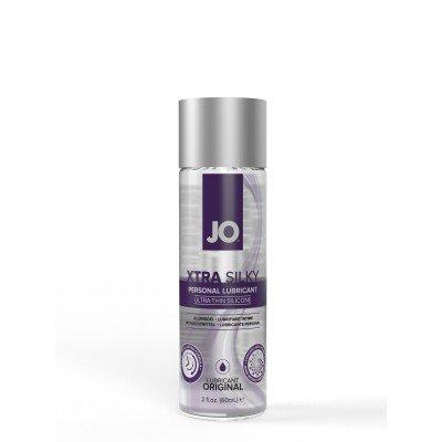 Лёгкая шековистая смазка на силиконовой основе JO Xtra Silky Silicone - 60 мл