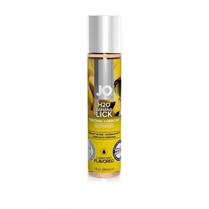 Ароматизированная смазка с ароматом банана JO Flavored Banana Lick - 30 мл