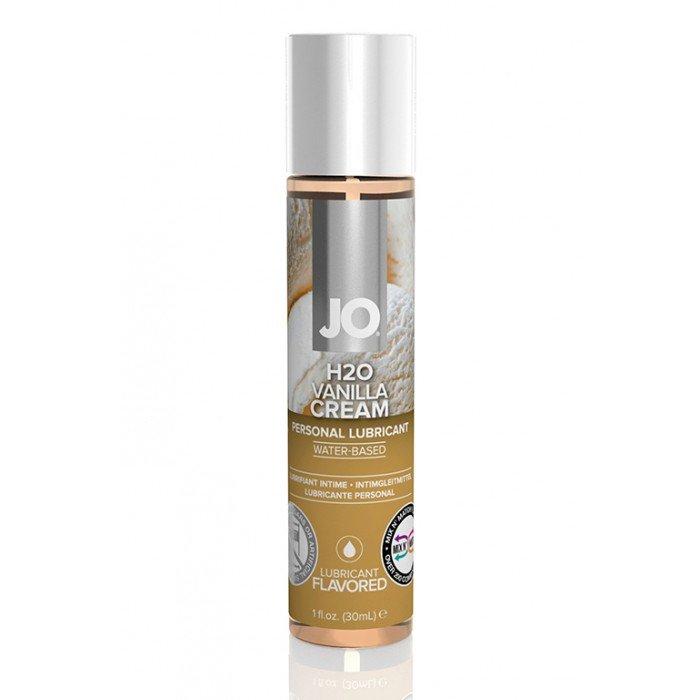 Ароматизированная смазка с ароматом ванильного крема JO Flavored Vanilla Cream - 30 мл