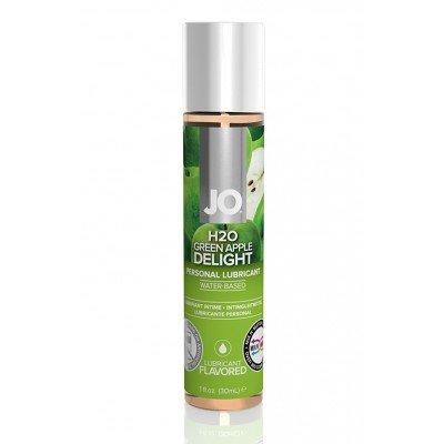 Съедобная смазка со вкусом зеленого яблока JO Flavored Green Apple H2O - 30 мл