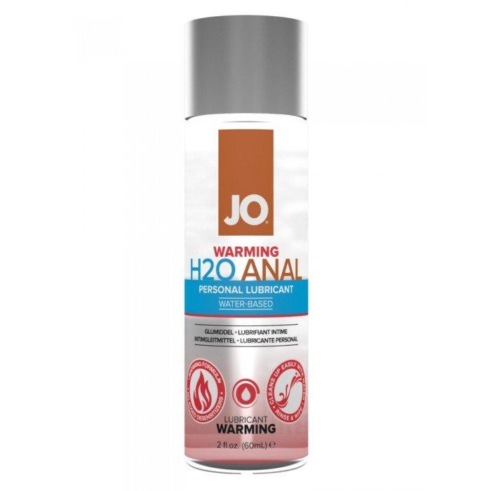 Анальная согревающая смазка-лубиркант на водной основе JO Anal H2O Warming - 60 мл