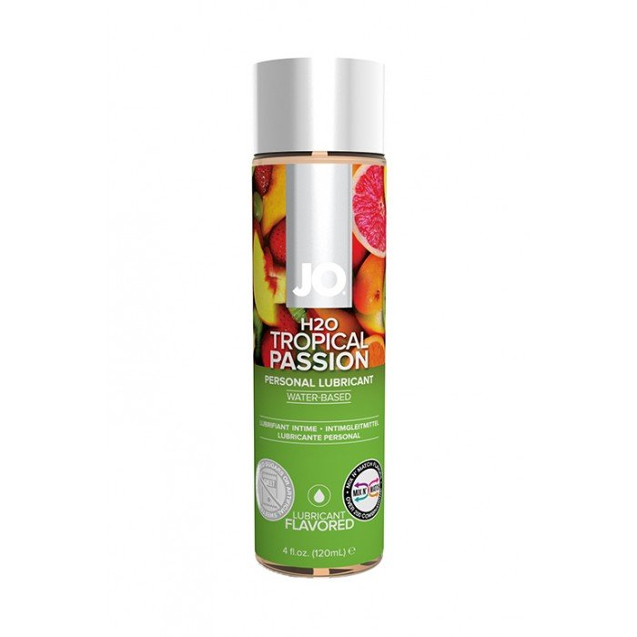 Ароматизированная смазка с ароматом тропических фруктов JO Flavored Tropical Passion - 120 мл