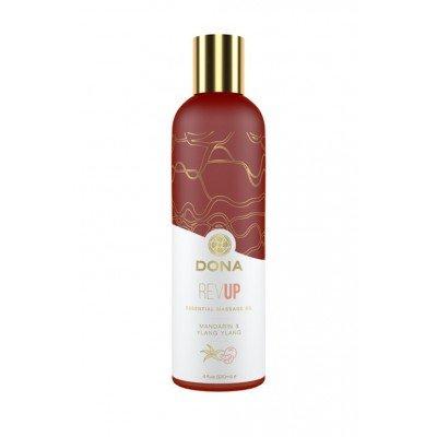 Массажное масло Dona Rev Up с ароматом мандарина и иланг-иланга - 120 мл
