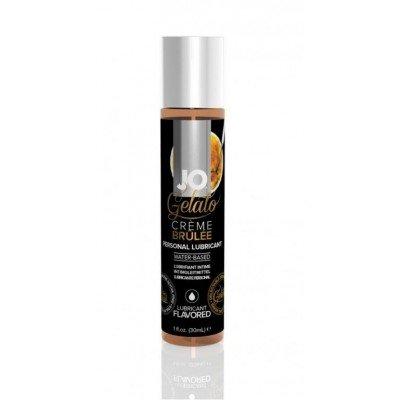 Съедобная смазка на водной основе с ароматом крем-брюле JO Gelato Creme Brulee - 30 мл