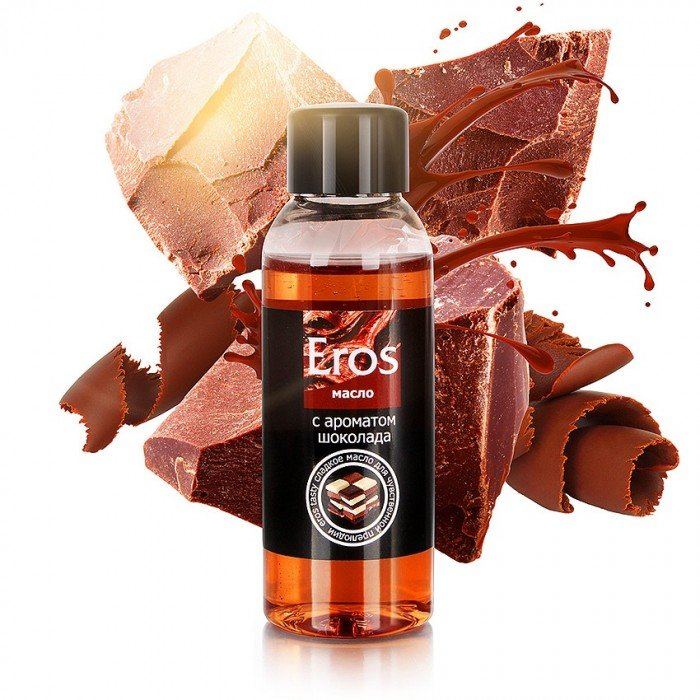 Масло массажное Eros Tasty с ароматом шоколада - 50 мл