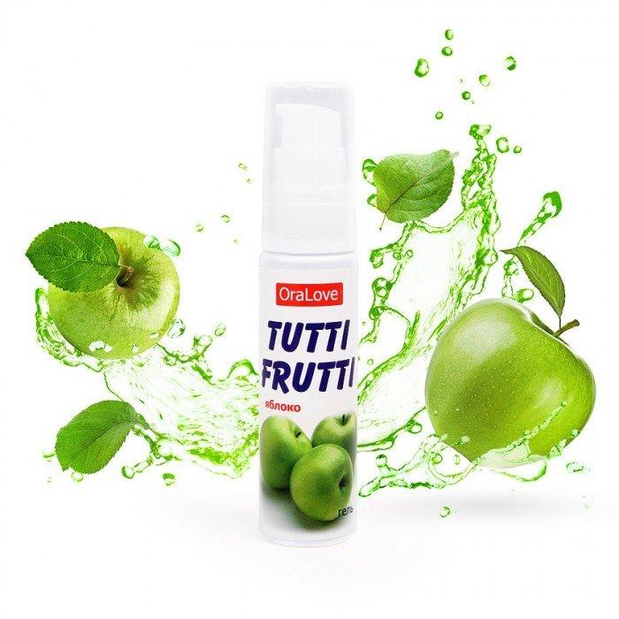 Cмазка-гель Tutti Frutti OraLove с яблочным вкусом съедобная - 30 гр