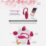 Виброяйцо и тренажёр Кегеля с управлением через смартфон Magic Motion Flamingo - розовое