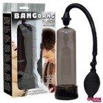 Вакуумная помпа Bang Bang Black Penispump черная - 20 см