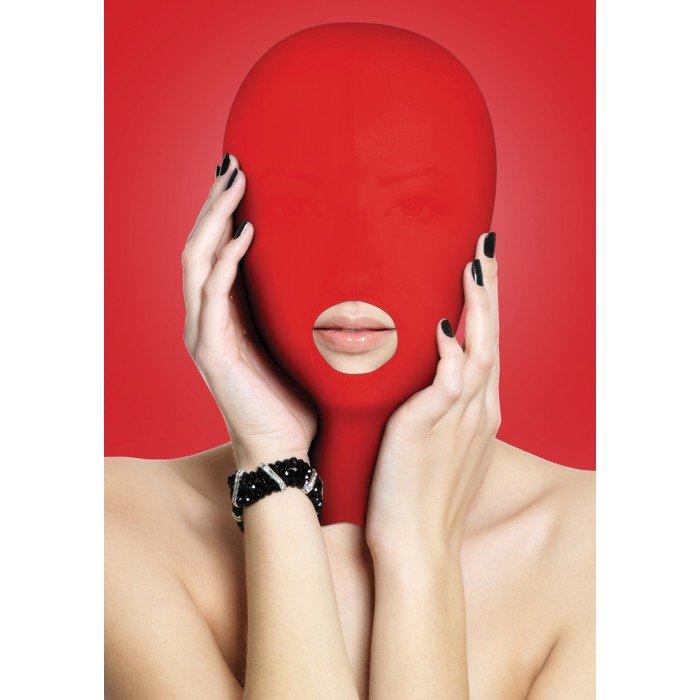 Маска-шлем закрытая с вырезом для рта Ouch! Submission Mask - красная