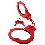 Наручники металлические Designer Metal Handcuffs - красные
