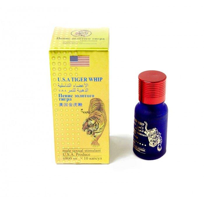 Мужской препарат для потенции Пенис Золотого Тигра - 10 шт
