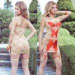 Платье Terracottas с кружевной спиной и контрастной вставкой