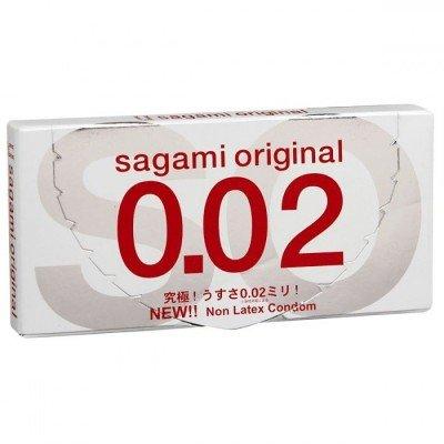 Ультратонкие полиуретановые презервативы Sagami Original 0.02 - 2 шт