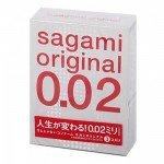 Ультратонкие полиуретановые презервативы Sagami Original 0.02 - 3 шт