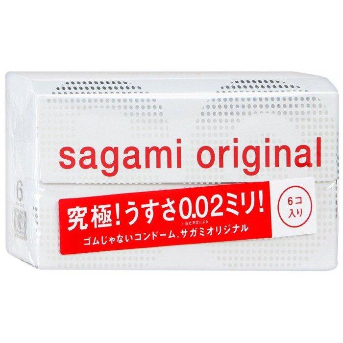 Ультратонкие полиуретановые презервативы Sagami Original 0.02 - 6 шт