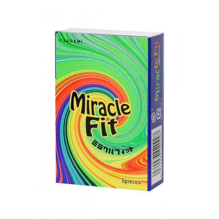Презервативы латексные Sagami Miracle Fit - 5 шт