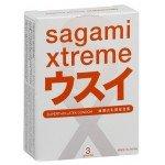 Ультратонкие латексные презервативы Sagami Xtreme Superthin 0,04 мм - 3 шт