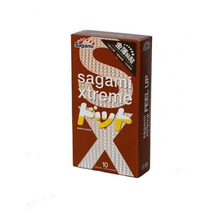 Презервативы латексные усиливающие ощущения Sagami Xtreme Feel Up - 10 шт