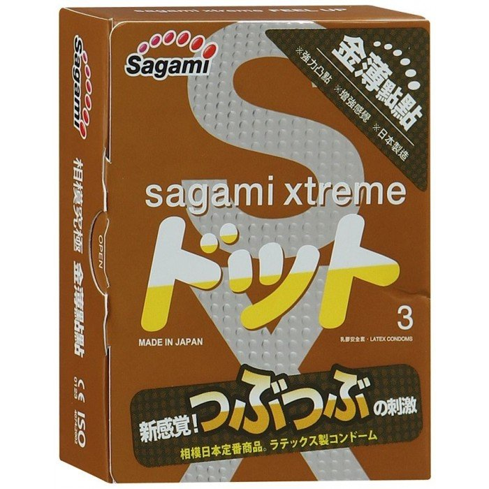 Презервативы латексные усиливающие ощущения Sagami Xtreme Feel Up - 3 шт
