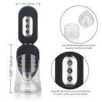 Автоматическая вакуумная помпа с вибрацией и посасыванием для головки полового члена Optimum Series - Get Hard Head Pump Set