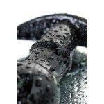 Анальная пробка из стекла Sexus Glass с ограничителем-ручкой - черная - 11,5 см