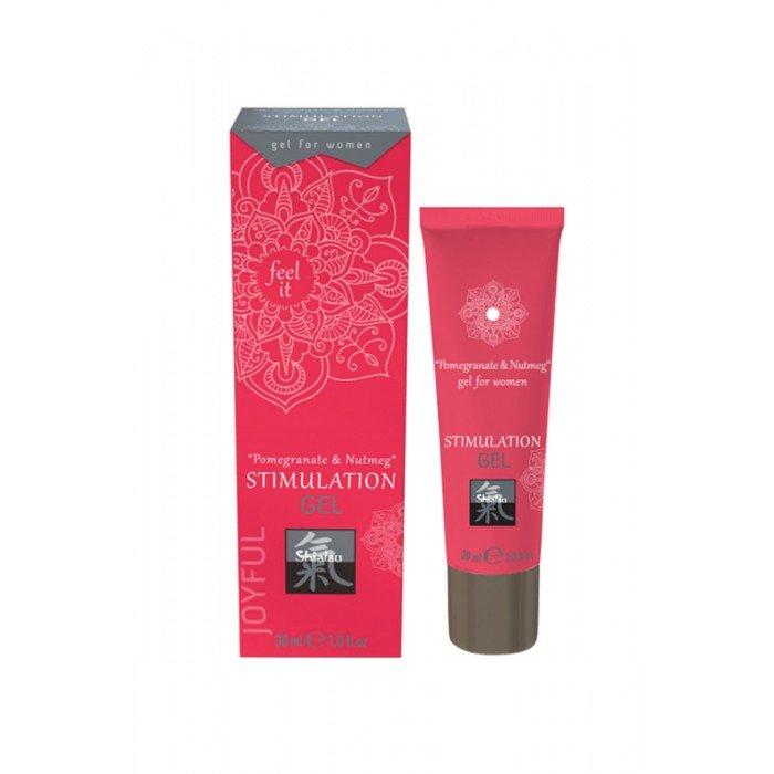 Интимный возбуждающий гель для двоих Shiatsu Stimulation Gel  Pomegranate & Nutmeg - 30 мл