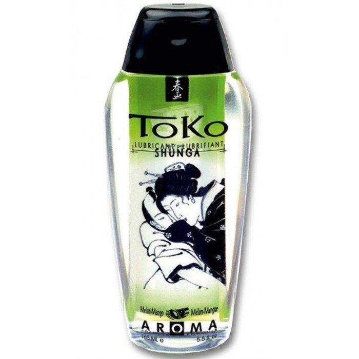 Смазка на водной основе Toko Aroma -  Melon Mango вкус Дыни и Манго - 165 мл