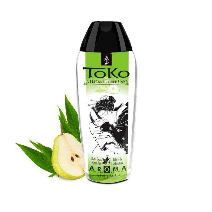 Смазка на водной основе Toko Aroma - Pear & Exotic Green Tea - Груша и Зелёный чай - 165мл