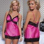 Очаровательная розовая сорочка