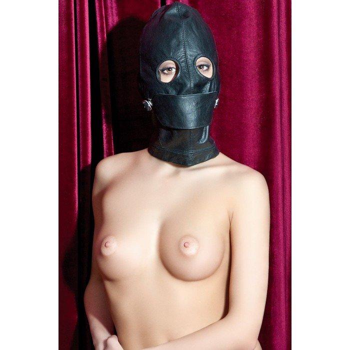 Кожаная маска Theatre с прорезями для глаз и кляполм-шариком