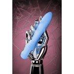 Вибратор с электростимуляцией Phisics Galvani Vibe - голубой - 21 см