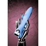 Вибратор с электростимуляцией Phisics Tesla G-point - голубой - 21 см