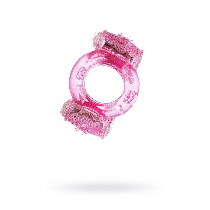 Виброкольцо на пенис Vibrating Ring с двумя вибропульками - розовое