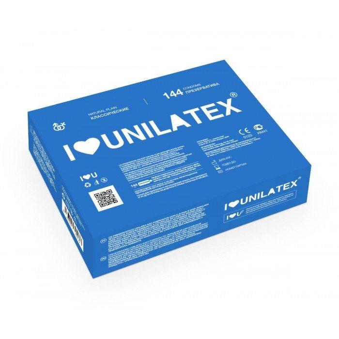 Классические презервативы Unilatex Natural Plain - 1 блок, 144 шт