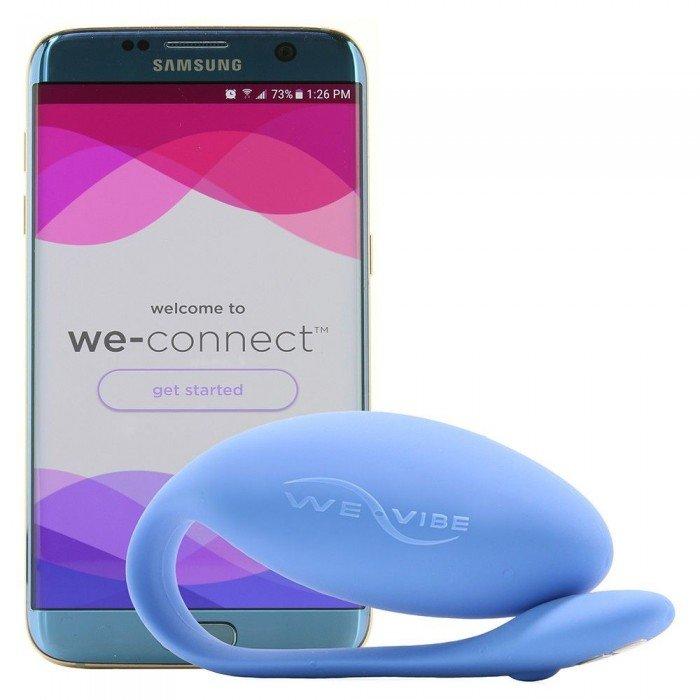 Вибро-яйцо для ношения Jive by We-Vibe Blue cо смарт-упралением